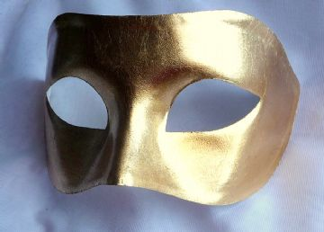 Mens Genuine 24k Gold Leaf Venetian half Mask (1)